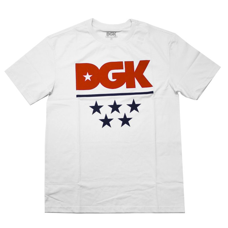 "Camiseta DGK ""All-Star Red"" Branca"