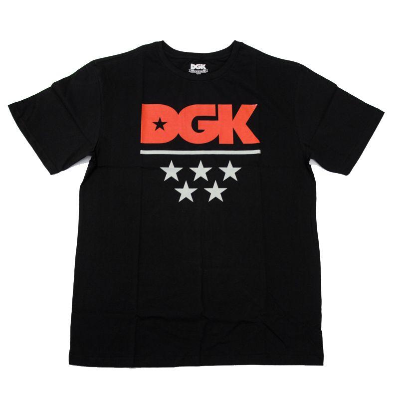 """Camiseta DGK """"All-Star Red"""" Preta"""
