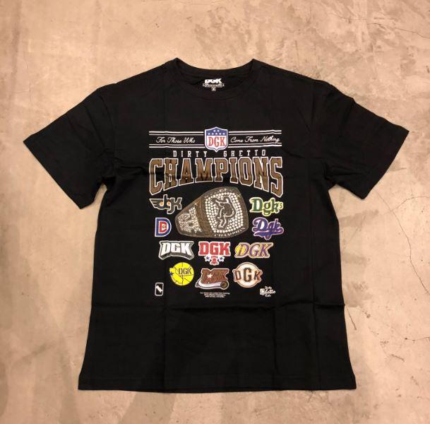 """Camiseta DGK """"Champions"""" Preta"""