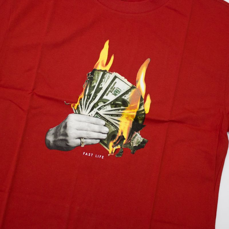 "Camiseta DGK ""Fast Life"" Vermelha"