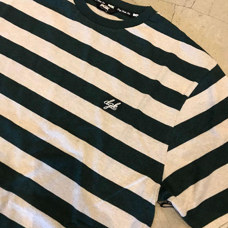 """Camiseta DGK """"Folsom SS Knit"""" Cinza/Verde"""