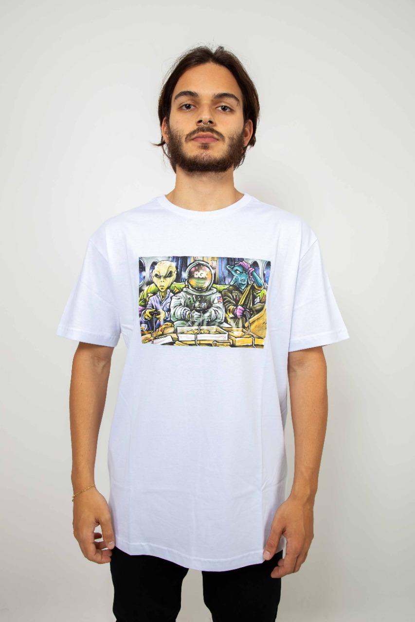 Camiseta DGK Game Night Branca