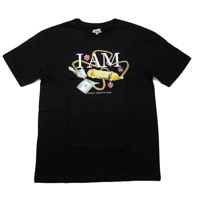 """Camiseta DGK """"I Am"""" Preta"""
