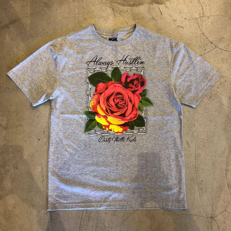 """Camiseta dgk """"Roses"""" Cinza"""