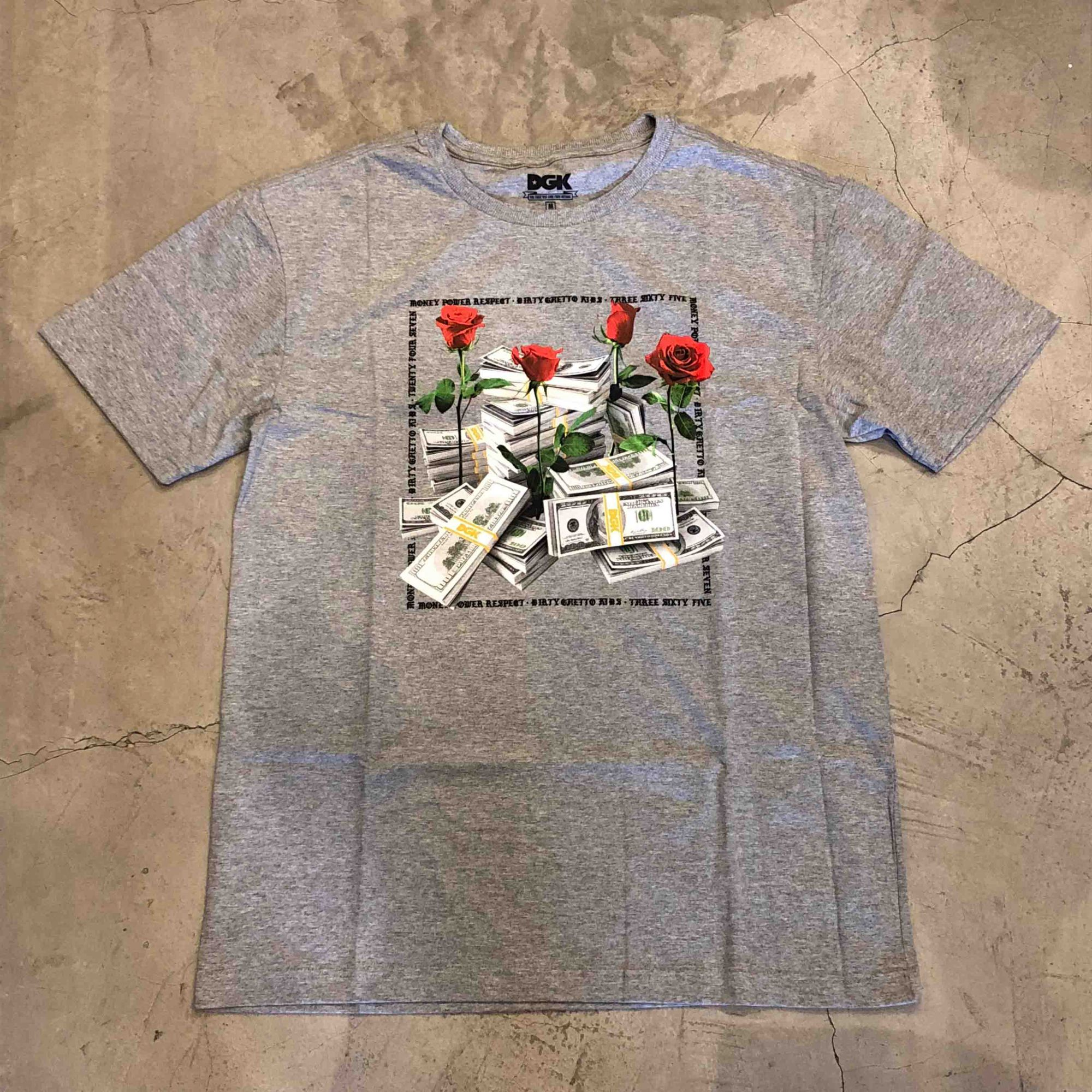 "Camiseta Dgk ""Stacks"" Cinza"