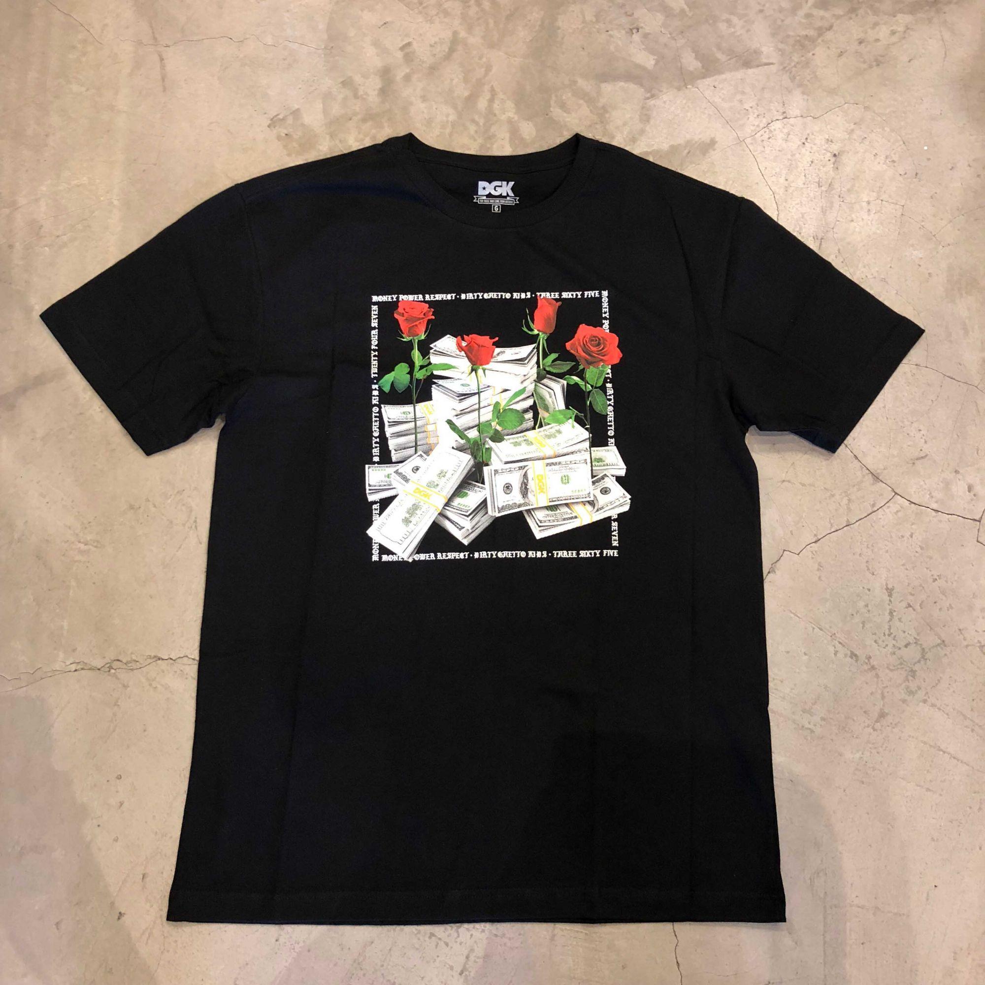 "Camiseta Dgk ""Stacks"" Preta"