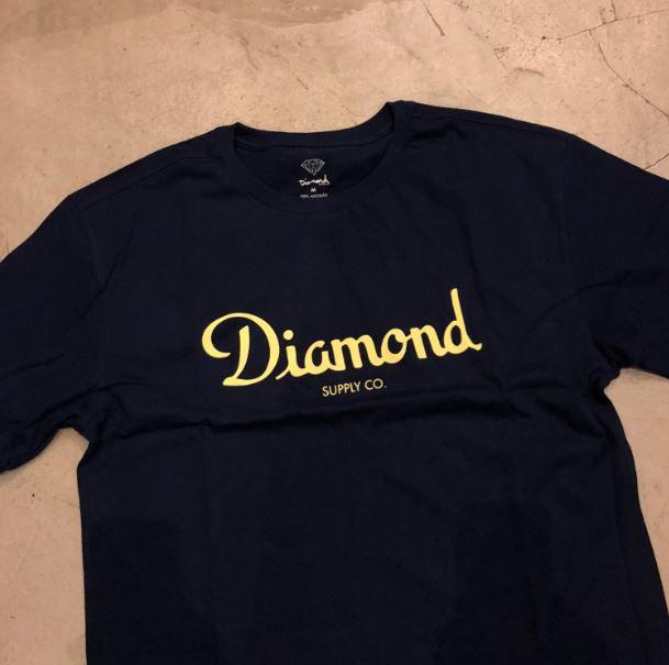 "Camiseta Diamond ""Champagne sign"" Azul Marinho"