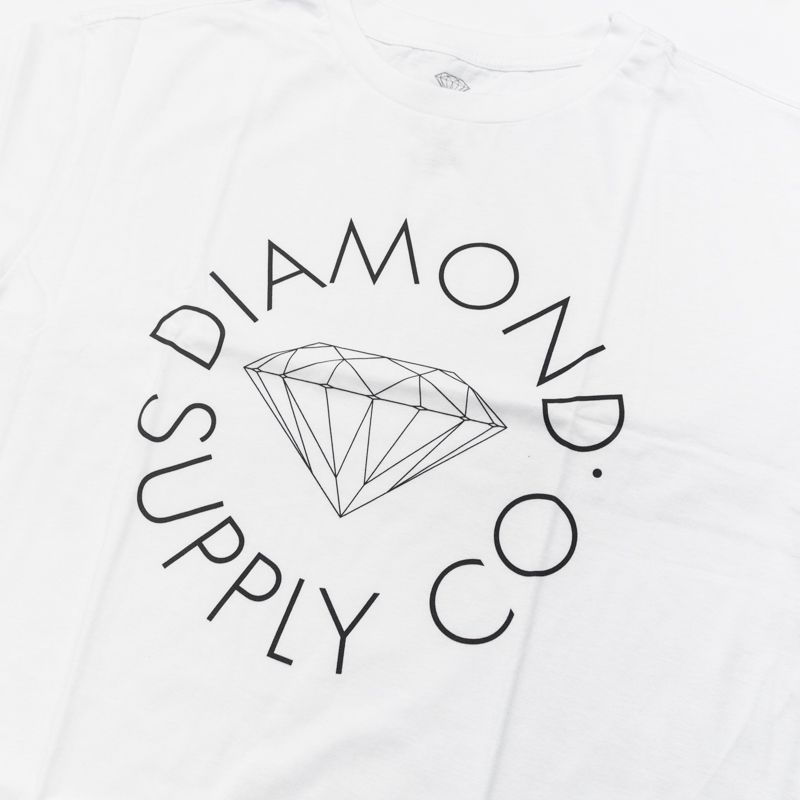 "Camiseta Diamond ""Circle Logo"" Branca"