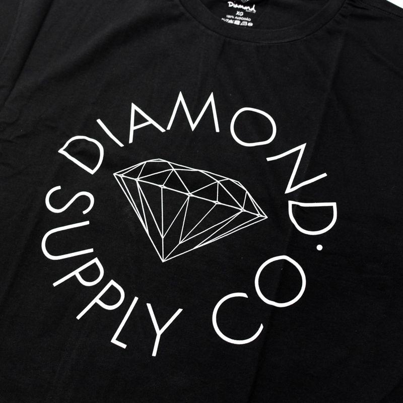 """Camiseta Diamond """"Circle Logo"""" Preta"""