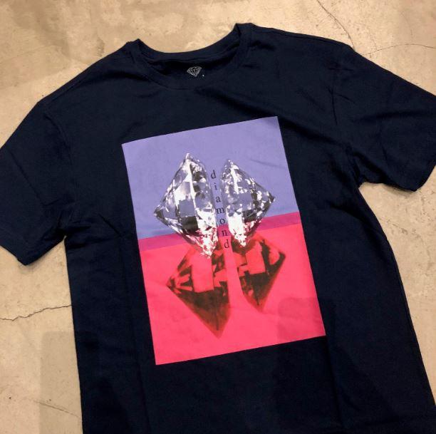 """Camiseta Diamond """"Duplicated"""" Azul Marinho"""