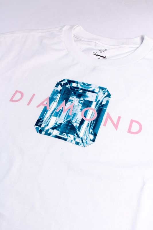 "CAMISETA DIAMOND ""EMERALD CUT"" BRANCA"