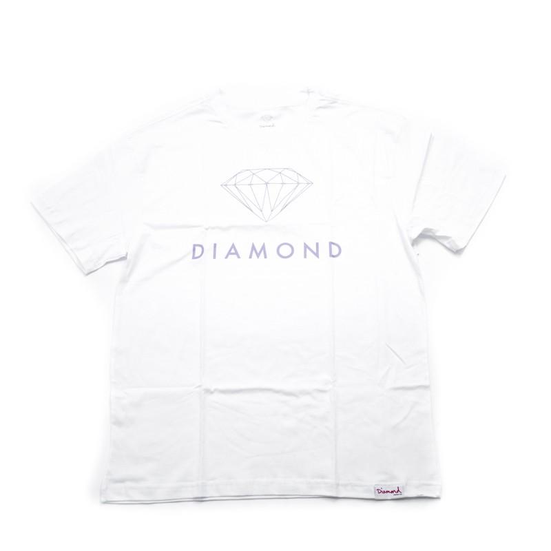 "Camiseta Diamond ""Futura Sign tee"" Branca"