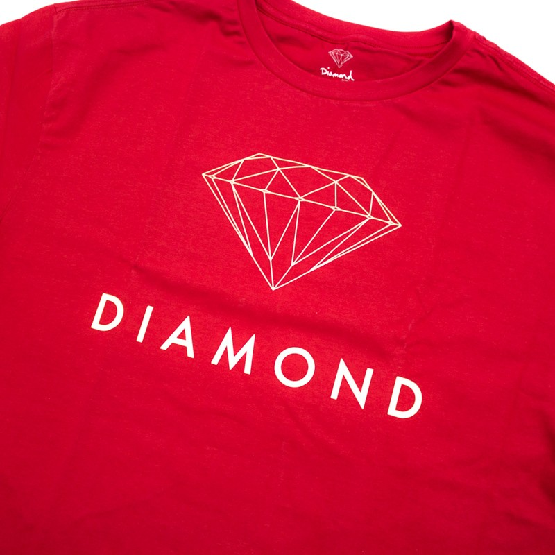 "Camiseta Diamond ""Futura Sign tee"" Vermelha"