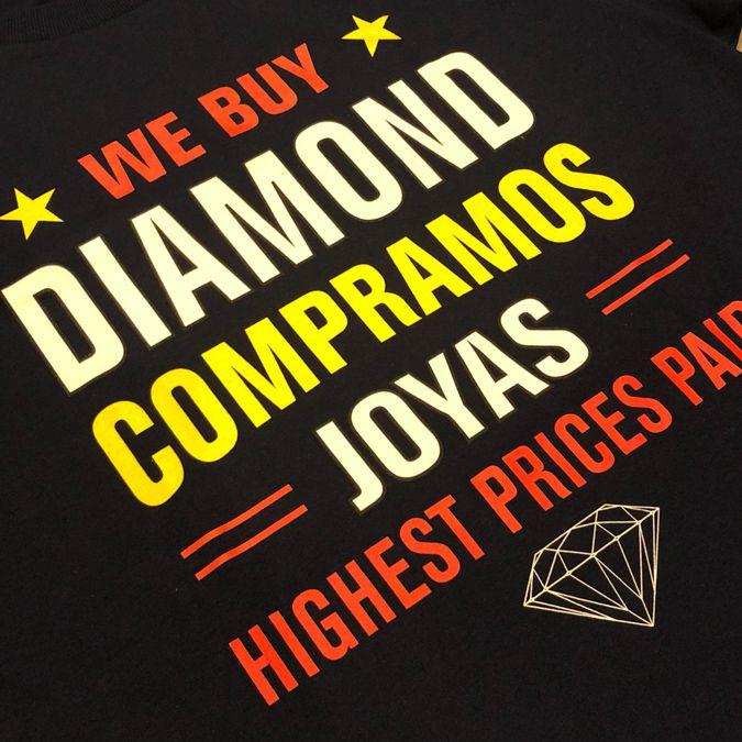 """Camiseta Diamond """"Jewelers Row"""" Azul Marinho"""