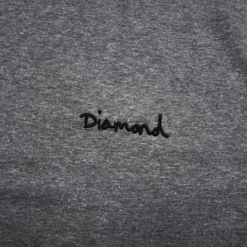 "Camiseta Diamond ""Mini OG Script Tee"" Cinza"
