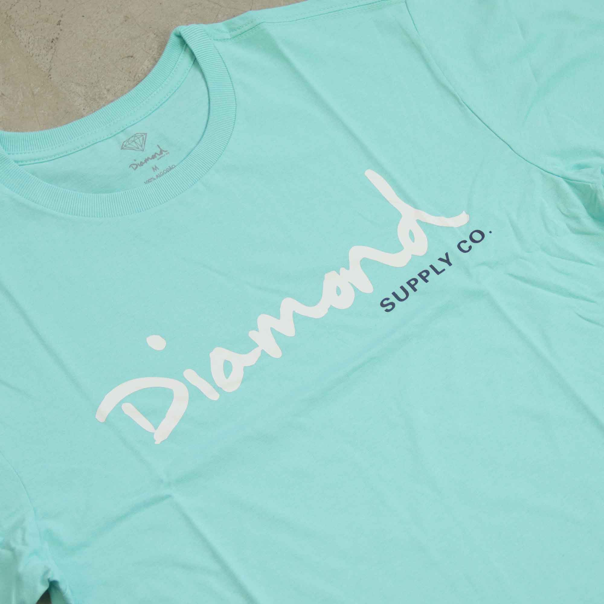 "Camiseta Diamond ""OG Script"" Azul Tiffany"