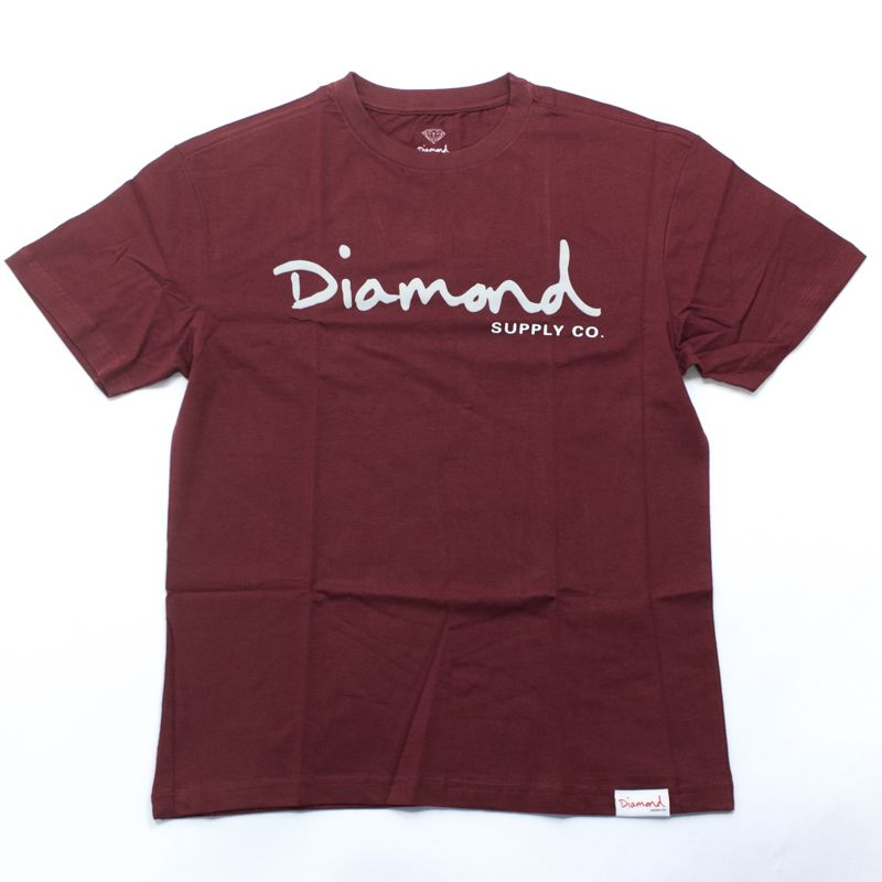 "Camiseta Diamond ""OG Script"" Bordô"