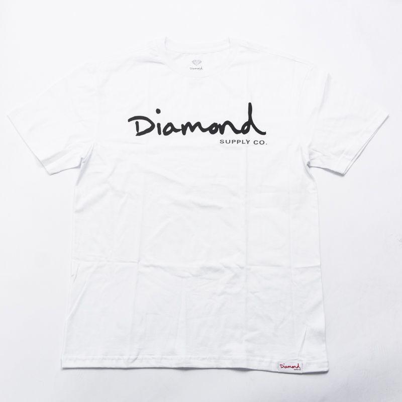 "Camiseta Diamond ""OG Script"" Branca"