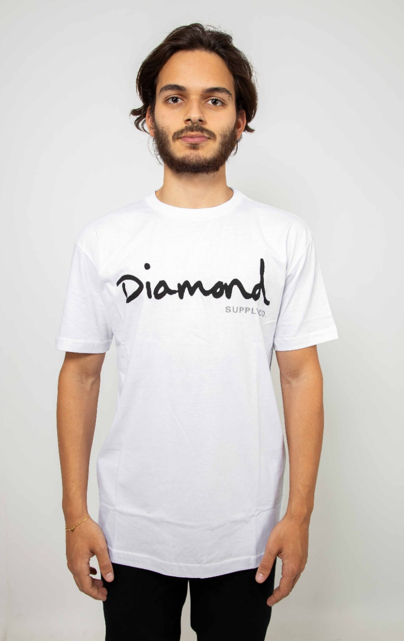 Camiseta Diamond OG Script Branco