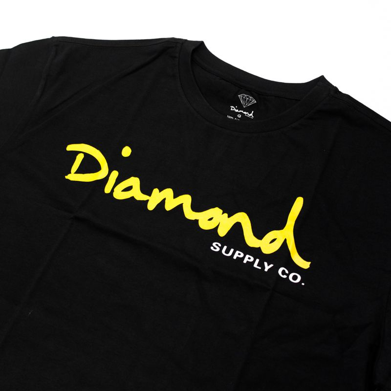 "Camiseta Diamond ""OG Script"" Preta"