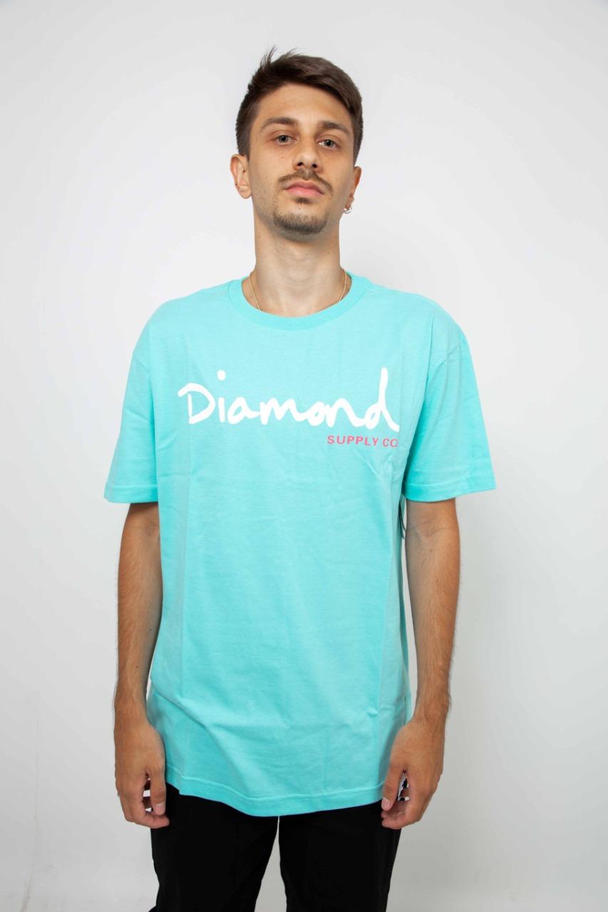Camiseta Diamond OG Script Tiffany