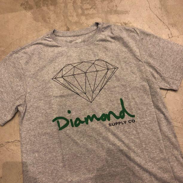 "Camiseta Diamond ""OG Sign"" Cinza"