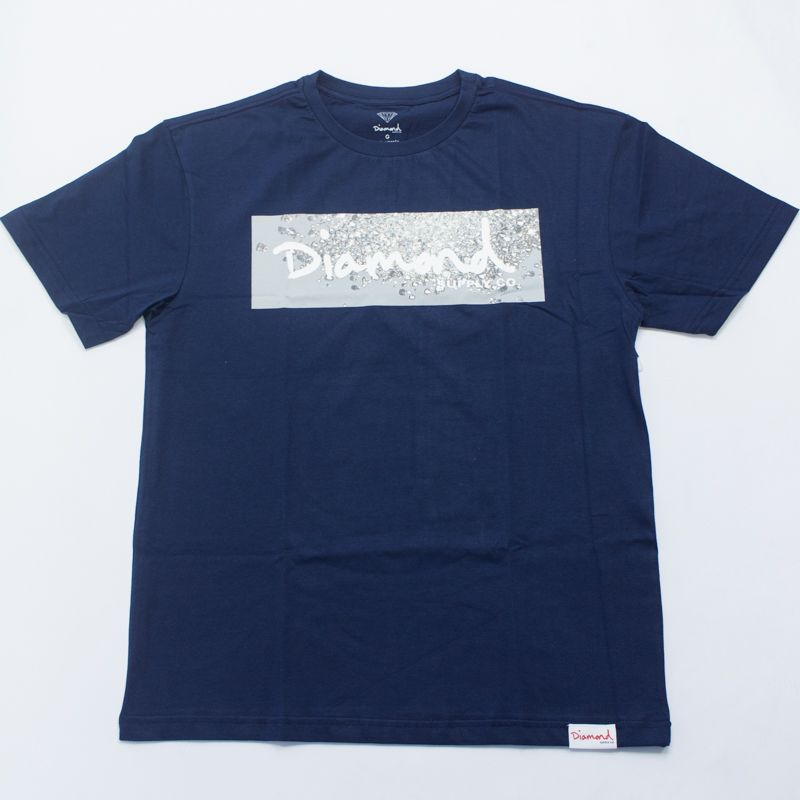 "Camiseta Diamond ""Scattered Box Logo"" Azul"