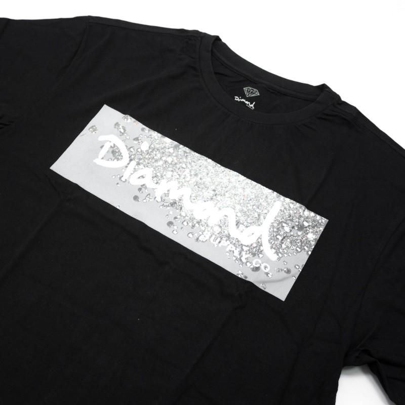 """Camiseta Diamond """"Scattered Box Logo"""" Preta"""