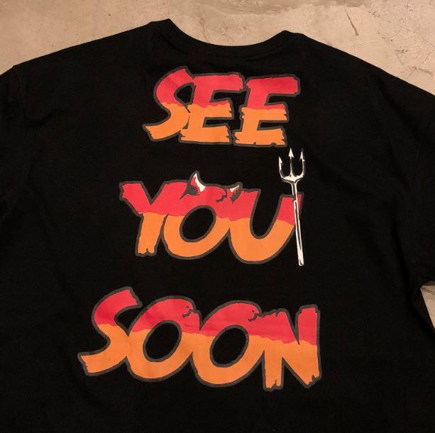 """Camiseta Diamond """"See you soon"""" Preta"""