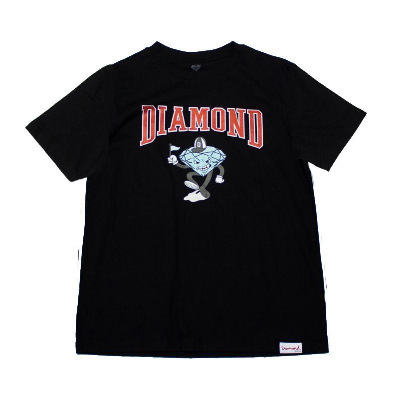 "Camiseta Diamond ""Team Mascot"" Preta"