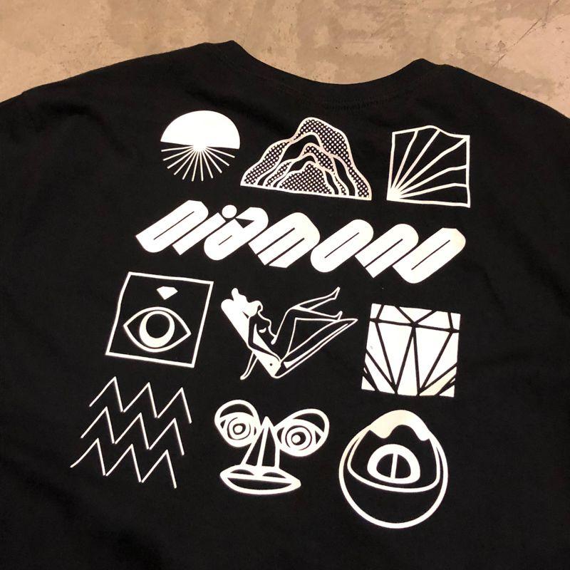 """Camiseta Diamond """"Tumbler"""" Preta"""