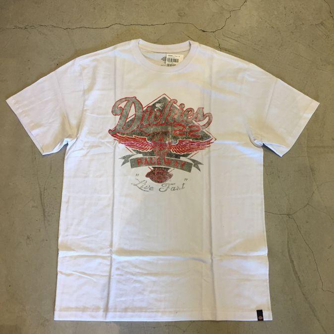 "Camiseta Dickies ""Live Fast"" Branca"