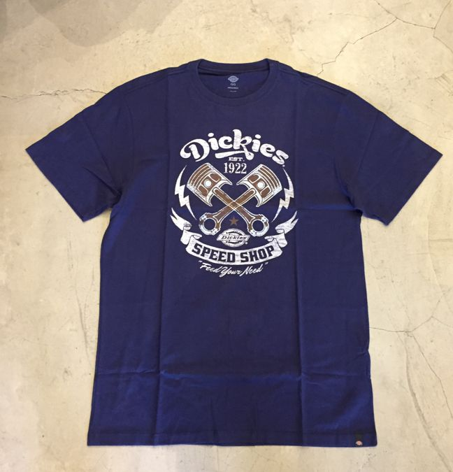 "Camiseta Dickies ""Speed Shop"" Azul Marinho"