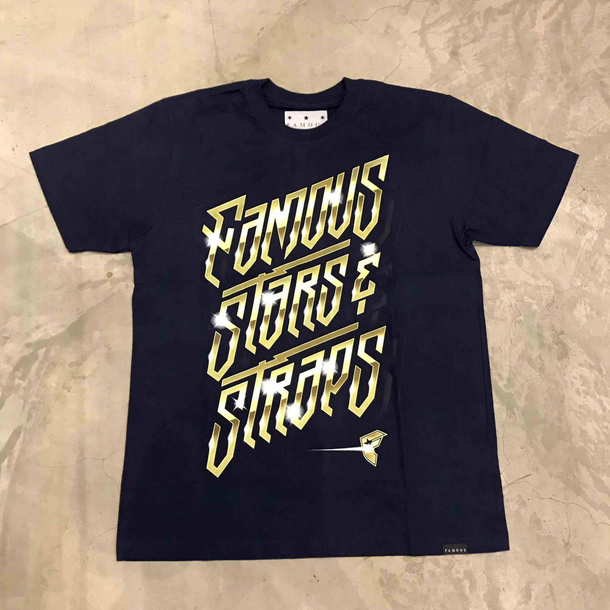 "Camiseta Famous ""Gleaming"" Azul Marinho"