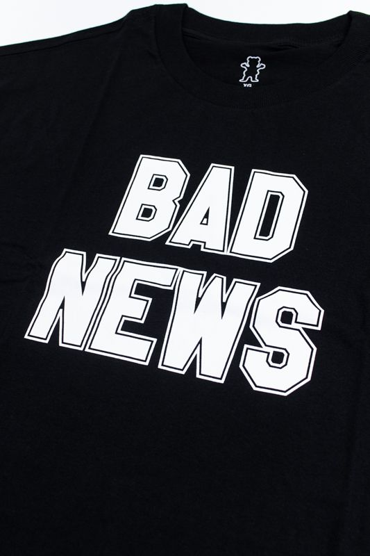"CAMISETA GRIZZLY ""BAD NEWS 2"" PRETA"