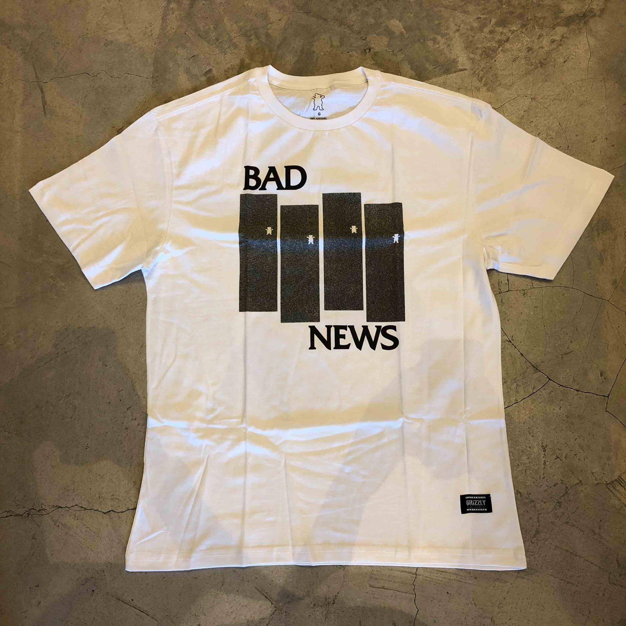 """Camiseta Grizzly """"Bad News"""" Branca"""