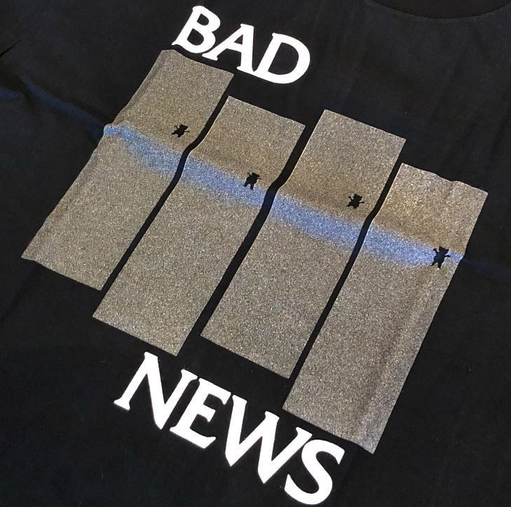 "Camiseta Grizzly ""Bad News"" Preta"