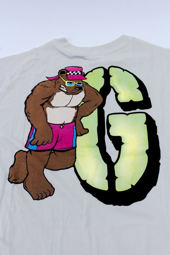 "CAMISETA GRIZZLY ""BEACH BUM"" CREME"