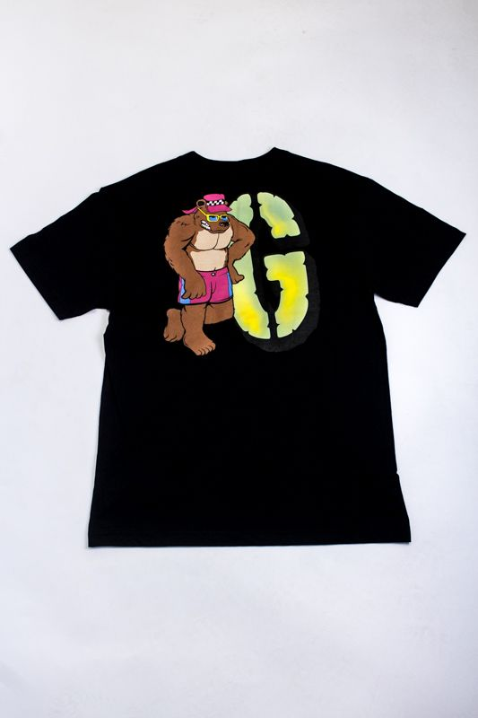 "CAMISETA GRIZZLY ""BEACH BUM"" PRETA"