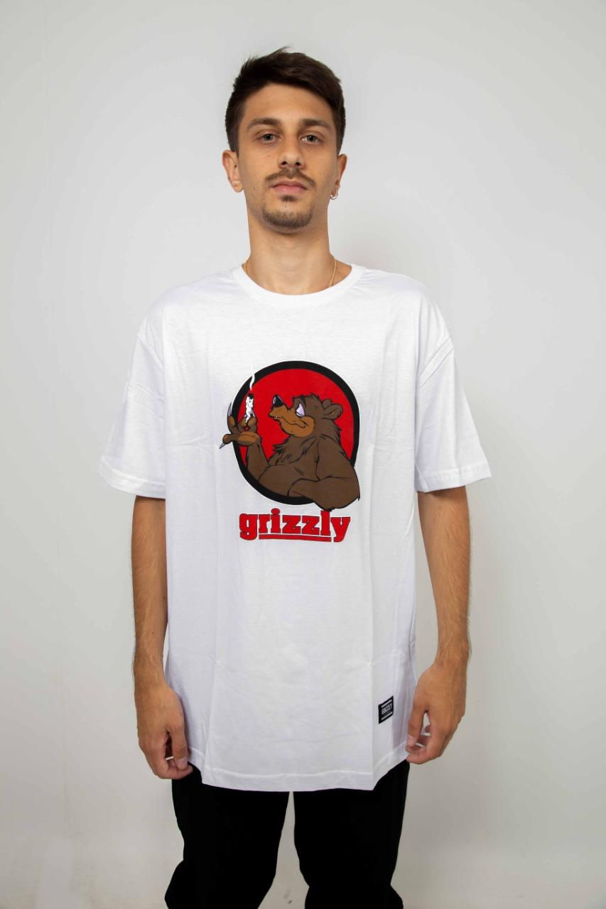 Camiseta Grizzly Bear Blunt Branco