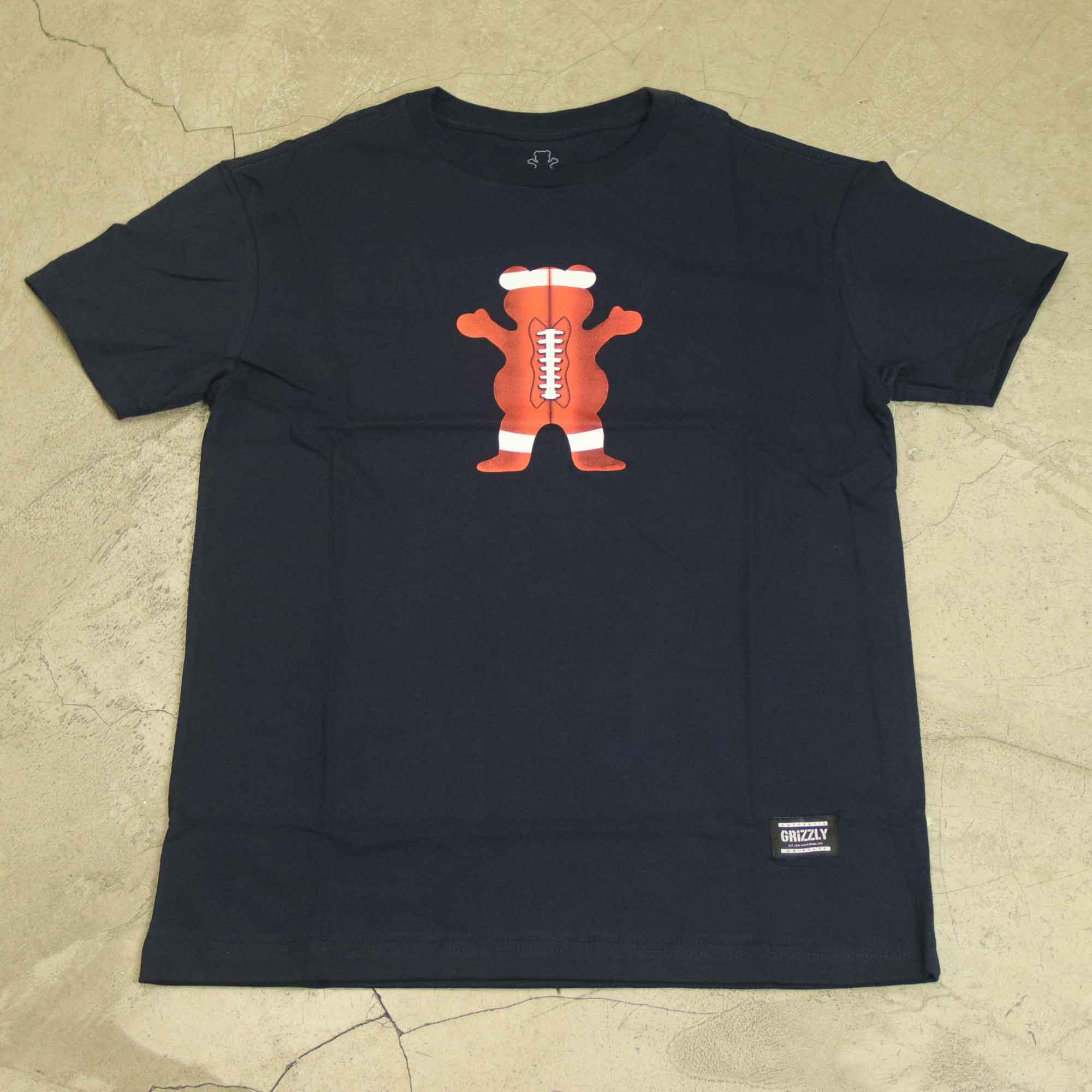 """Camiseta Grizzly """"Bear Football"""" Azul Marinho"""