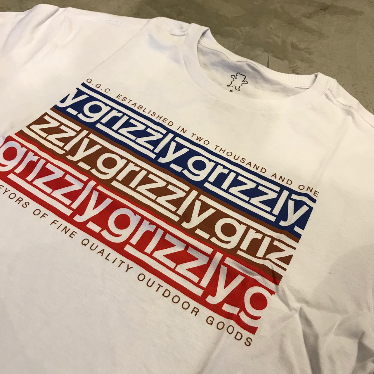"Camiseta Grizzly ""Birminghan"" Branca"