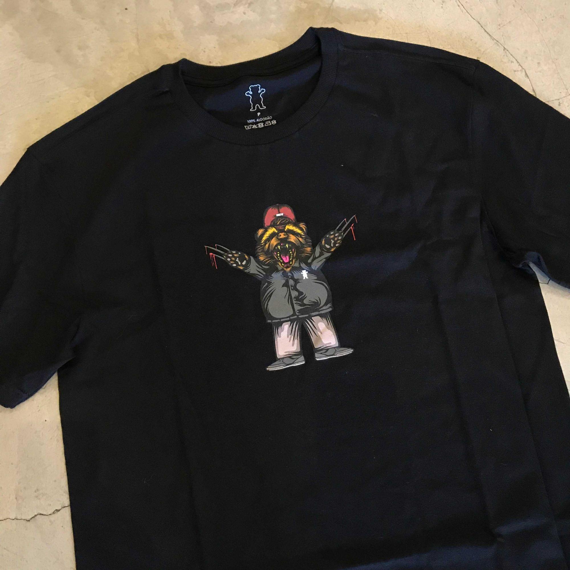 "Camiseta Grizzly ""Joslin Pro Beer"" Preta"