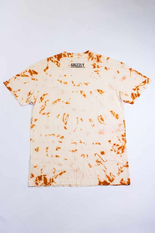 "CAMISETA GRIZZLY ""CURSIVE TONAL EMBROIDERED"" LARANJA ESPECIAL"