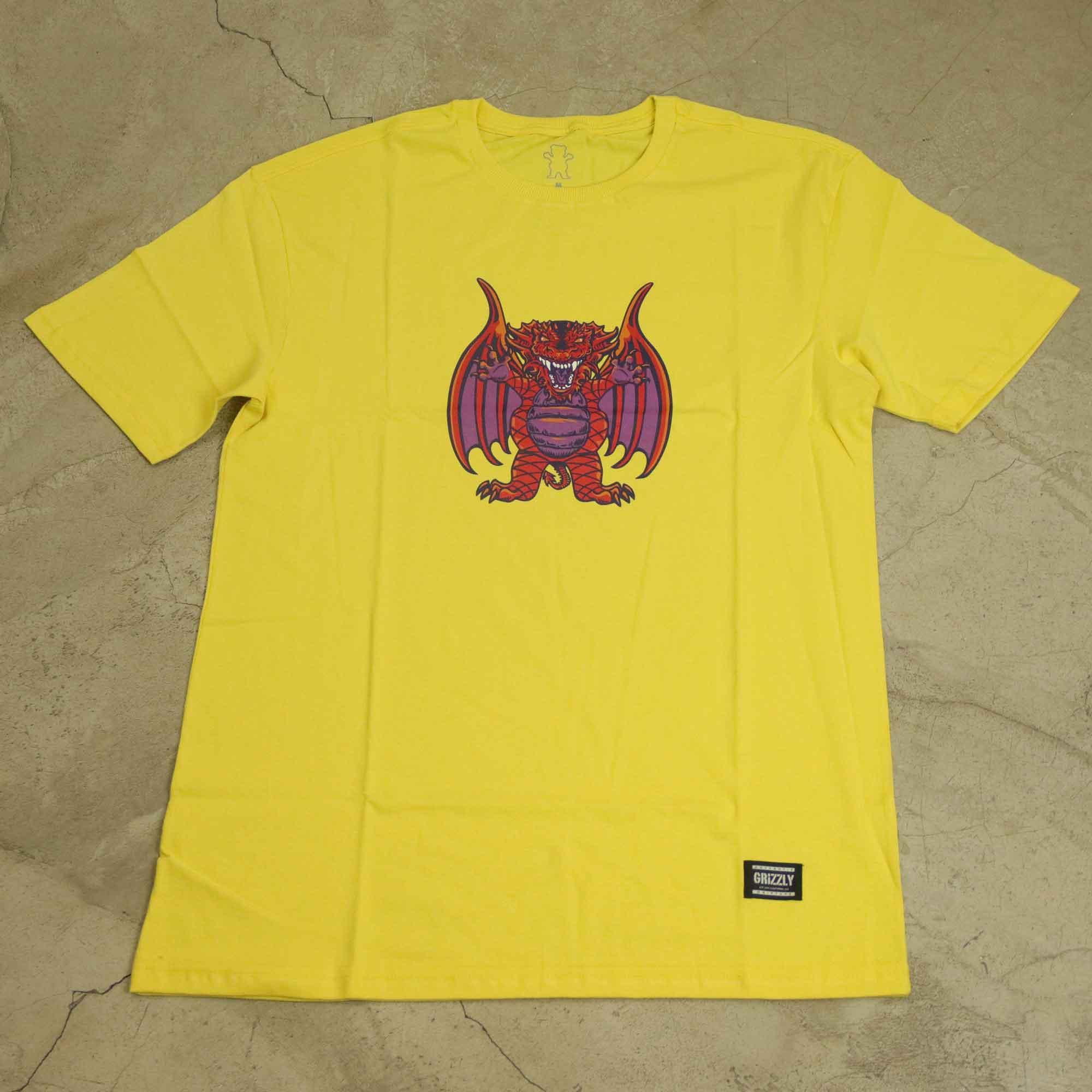 "Camiseta Grizzly ""Decenzo's Dragon"" Amarela"