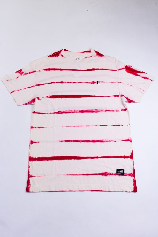 "CAMISETA GRIZZLY ""EARTHQUAKE STRIPE TIE DYE"" VERMELHA ESPECIAL"