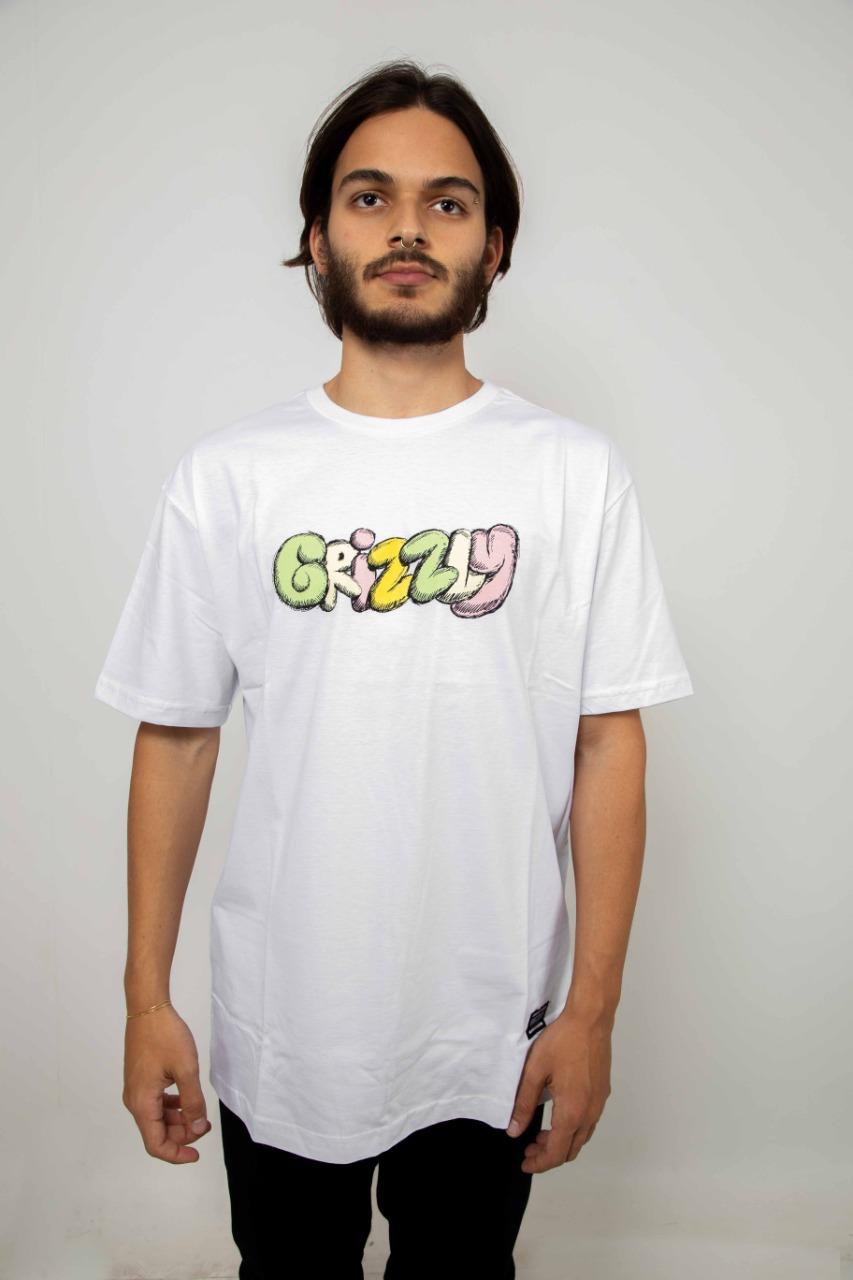 Camiseta Grizzly Fuzzy Branco