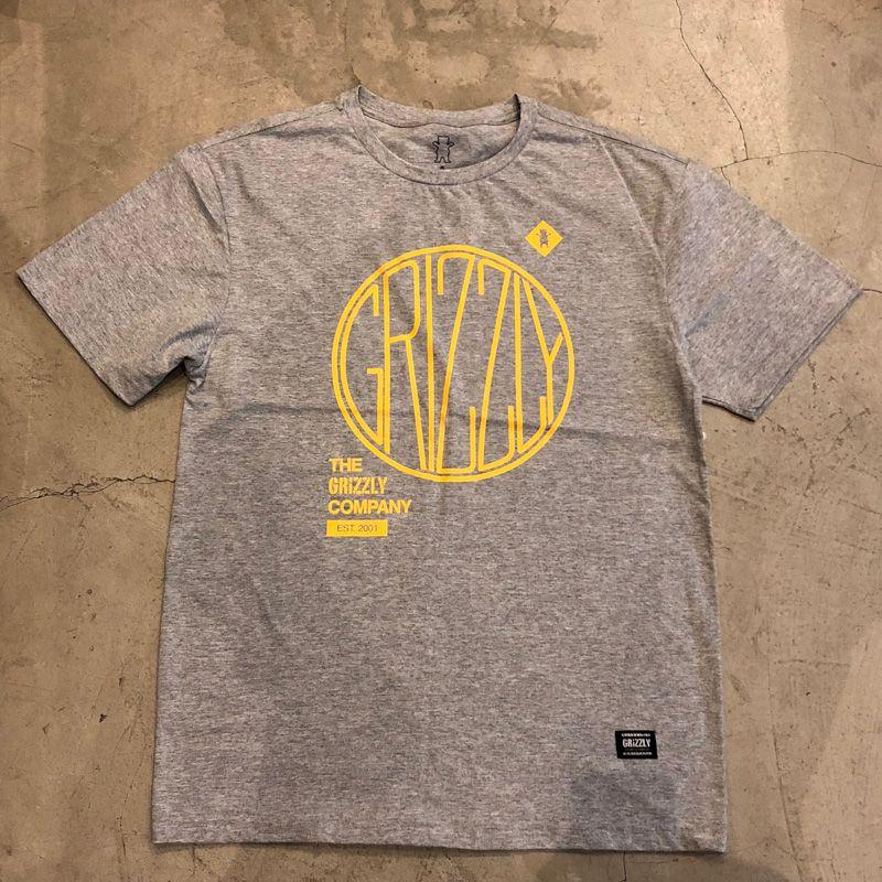 "Camiseta Grizzly ""Locomotive"" Cinza"