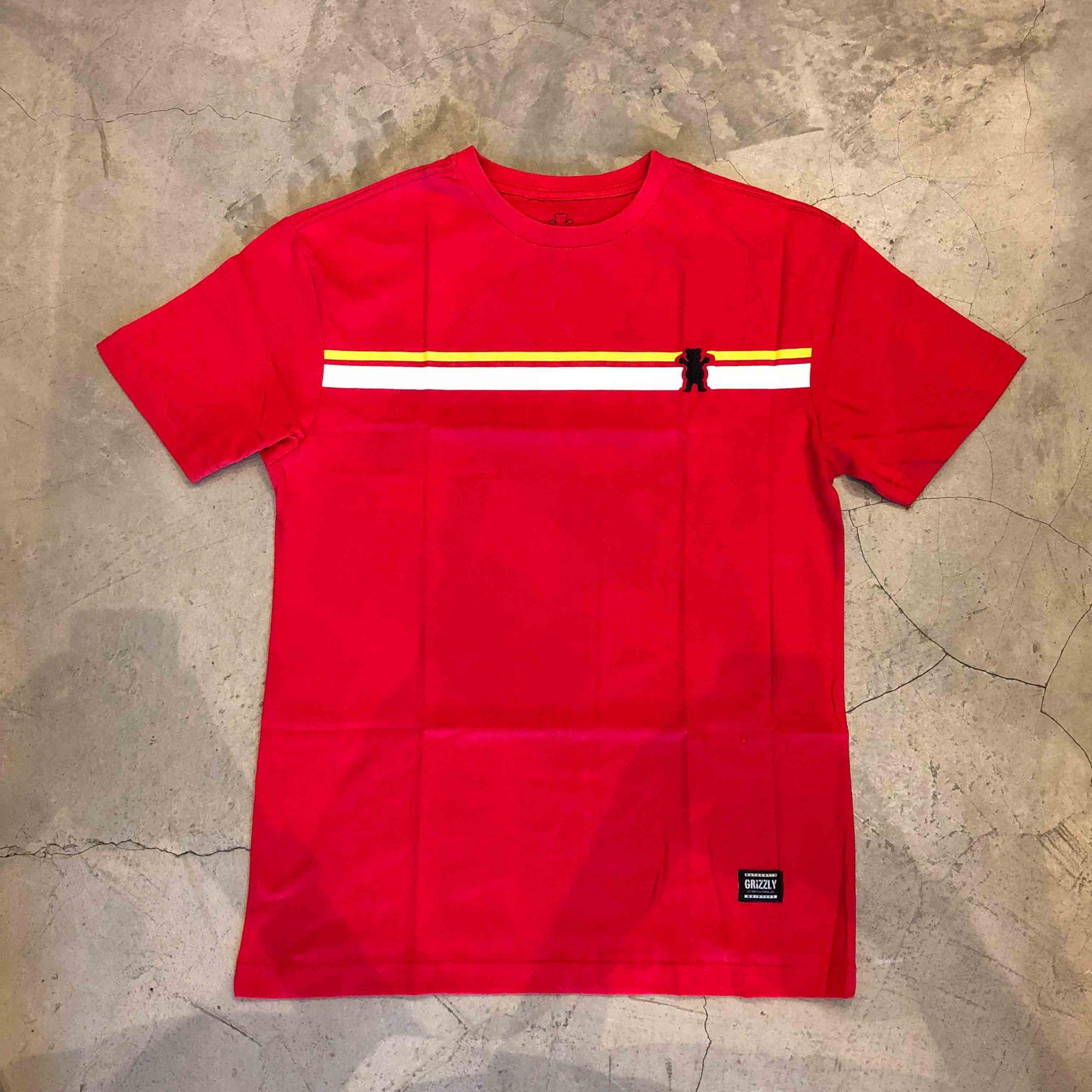 """Camiseta Grizzly """"Mainline"""" Vermelha"""
