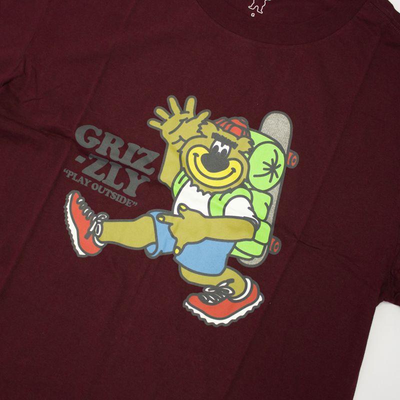 "Camiseta Grizzly ""Mile High""  Bordô"